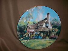 Hamilton Collection Marty Bell Plate Periwinkle Tea Rooms