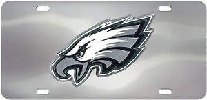 Fanmats NFL Philadelphia Eagles Chromed Steel Diecast Emblem Front License Plate