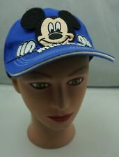 Disney Mickey Mouse Hat Blue Kids Size Adjustable Baseball Cap Pre-Owned ST229