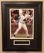 Travis Ishikawa signed photo - Custom  Framed - SF Giants World Series