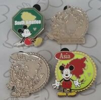 Mickey Continents Collection 2012 Hidden Mickey Set WDW Choose a Disney Pin