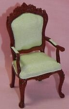 Dollhouse Miniature Green Living Room Chair 1:12 Scale