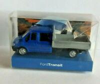 Modell Ford Transit Doka -Pritsche-  blaü - Ho-M 1:87