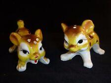 Pr Vtg Kreiss Puppies Dogs Fawns Deer??  Salt & Pepper Shakers Japan