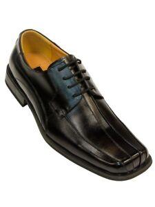 Zota Classique Hommes Cuir Noir Lacets Bout Carré Robe Casual Oxford Chaussure