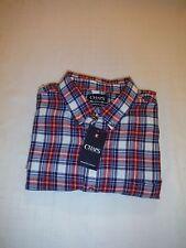 Chaps Long Sleeve Men's Flannel Shirts 2XL,XL,L,M,S, Multi Plaid 100% cotton
