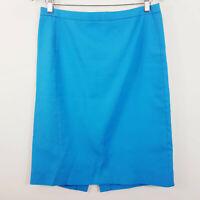 J.CREW | Womens Blue Pencil Skirt [ Size AU 12 or US 8 ]