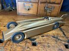 JC30 1930s ORIGINAL Kingsbury Golden Arrow Racer TOY WIND UP CAR RARE CLEAN!