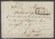 1818 Lettre en port payé marque P13P condé sur Noireau pr Paris F126