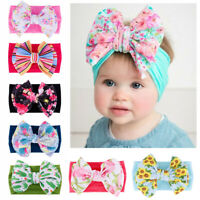Hairband Kids Girls Baby Nylon Headband Newborn Headwraps Knot Turban Big Bow