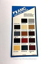 1982 American Motors AMC Eagle Concord Exterior Paint Color Chip Brochure Card