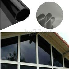 Black Privacy Film Foil Glass Window Tint Tinting Home Office Decor 0.5mx3m NEW