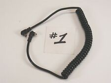 """Coiled Extension Sync Cord for Flash Strobe ~ 18"""" ~ Male PC to Female PC [#1]"""