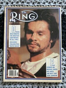 The Ring Sept 1980 Vtg Sports Magazine Roberto Duran Boxing Cover No Label VG