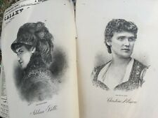 Very Rare Victorian Illustrated 1883 Singers Composers Prints Background History