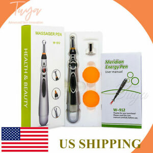 MERIDIAN ACUPUNCTURE PEN WITH 3 MASSAGE HEAD ENERGY PAIN THERAPY RELIEF