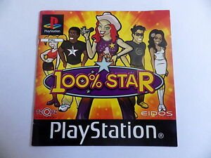 100% Star PS1 PLAYSTATION Manual Booklet Instruction Manual Fr