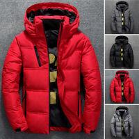 Men's Winter Ultralight Duck Down Jacket Thicken Hooded Puffer Warm Outwear Coat