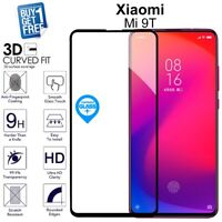 2 x For Xiaomi Mi 9T Genuine Tempered Glass Screen Protector Full Curved Black