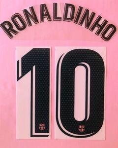 2020/21 FC Barcelona #10 RONALDINHO 3rd Soccer Jersey Name Set