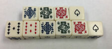 10 Six Sided Poker Dice New W/O Dice Cup Fun Times with 10 Poker Dice FREE S/H *