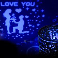 Romantic LED Rose LOVE Night Sky Projector Lamp Star Light Cosmos Master Gift
