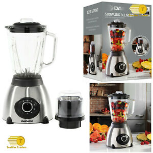 BRAND NEW 1.5L Daewoo 500W Heavy Duty Glass Jug Electrical Blender With Grinder