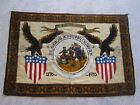 VTG 1776-1976  AMERICAN BICENTENNIAL CELEBRATION WALL TAPESTRY 57 x 40 inches