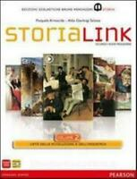 StoriaLink vol.2 Mondarori Bruno Pearson scuola, STORIA LINK, cod:9788842435501