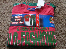 LAMPOONS CHRISTMAS VACATION men's NWT sz S pajama set red and green Griswolds