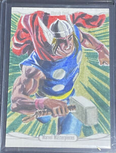 2016 marvel masterpieces Thor Sketch Card