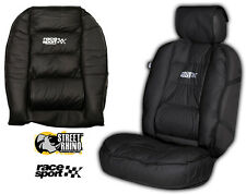 Volvo V40 Universal Race Sport Black Cushioned Front Seat Cover