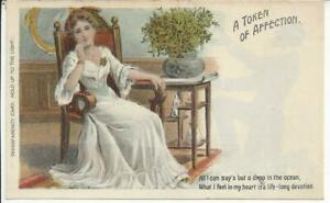 TRANSPARENCY CARD, HOLD UP TO THE LIGHT, A TOKEN OF AFFECTION