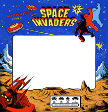 Space Invaders Arcade Monitor Bezel Sticker Decal