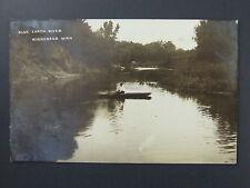 Winnebago Minnesota MN Blue Earth River Real Photo Postcard RPPC 1912