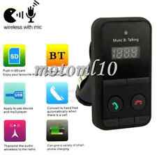 Top! Car Kit Handsfree Wireless Bluetooth FM Transmitter USB SD Remote MP3 Mo