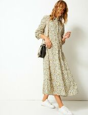 Marks and Spencer PER UNA  Pure Cotton Tiered Shirt Maxi Dress Size 14