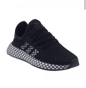 ADIDAS ORIGINALS DEERUPT RUNNER Net  EU38 UK5 Lace Up Trainers Shoes Black Whit