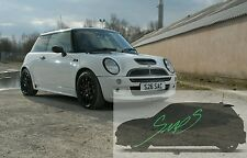 Mini Cooper S JCW, Beltline Tape Black R50/52/53 De-chrome GLOSS (Window Trim)