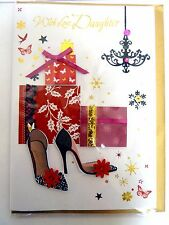 (21) Single Christmas Card - Daughter - Shoes & Present (Size M)