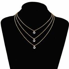 Simple Multi-Layer Zircon Necklace Charm Necklace Women Fashion Jewelry