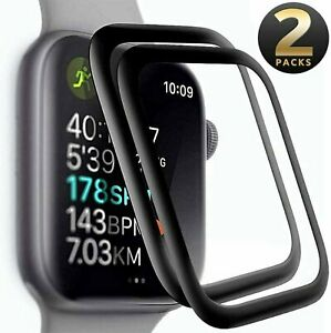 2-PACK FULL COVER Screen Protector For Apple Watch Series 6 5 4 SE (40 / 44 mm)