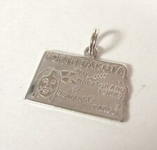 North Dakota State Charm Pendant .925 Sterling Silver USA Made Souvenir Jewelry