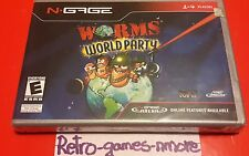 NGAGE VIDEO GAME WORMS WORLD PARTY THQ WIRELESS NOKIA, Sealed, Actual pict NEW