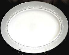 """Lenox BELLINA Platinum Oval Serving Platter 16"""" Large Was $343 New"""