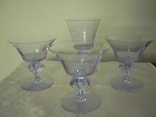 Tiffin Twilight Purple/Blue Water Goblet & 3 Champagne/Sherbet Glasses 17578
