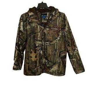 COLUMBIA PHG Jacket Camo Hooded Hunting Outdoor Zippered  Pockets Sz M