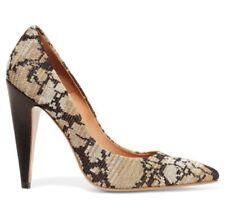 M Missoni Leather Metallic Crochet Knit Brown Gold Heels Pumps Size 35/5