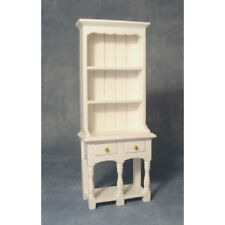 Dolls House Furniture : White Wooden 2 Drawer Dresser : 12th scale