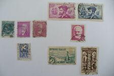 SERIE TIMBRES FRANCE- BELLE SERIE Oblitéré 1933 // 9 TYPES //  A VOIR